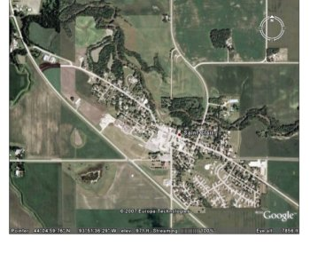 Google Earth image of Saint Clair Minnesota
